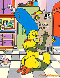 Its marges birthday and homer has a very special gift for her he makes his very - part 79