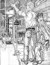 Street guys wildly ravish the comics ass - part 301