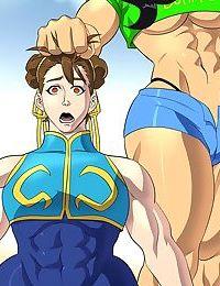 Laura Matsuda Story Outfit vs Chun-Li Alpha