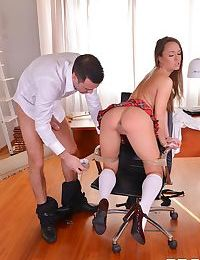 Naughty schoolgirl blue angel gets spanked and dicked by a principle - part 76