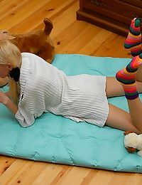 Naked anne licking a lollipop in pigtails naked - part 102