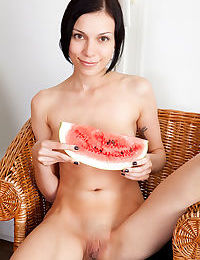 Charming babes gathered together to eat some melon and get nude and naughty - part 765