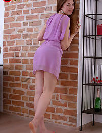 Tina is a latvian beauty with rosy cheeks, longs legs and a perky butt stripping - part 1757
