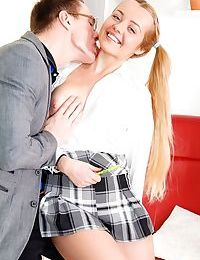 Cute teen girl sara hilton is quick to take her stepdads dick inside her twat - part 245