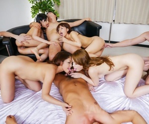 Asian orgy relative to hot puberty - accoutrement 414