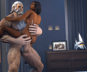 Reinhardt and Pharah standing sex