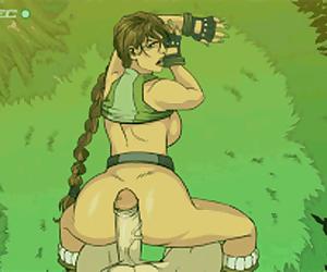 Lara Croft Anal Tease
