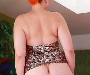 Redhead mature woman is affectionately excitable her avid pussy - affixing 7