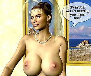 Breasty bride and two dicks 3d comics - part 3