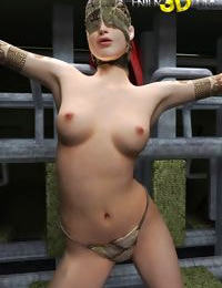 Masked dystopian babe with tattoos and unreal body - part 9