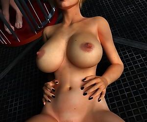 Nice blonde girl with big tits likes to show her naked body - part 11