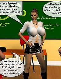 Lesbian orgy in classroom - part 9