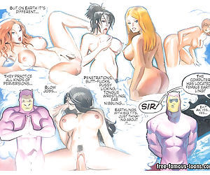 Lusty girls and aliens orgy - part 11