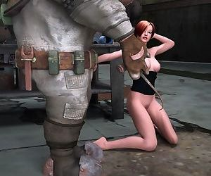 Sexy redhead babe and her robot - part 10