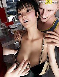 Sexy shemale sucks two big dicks - part 8