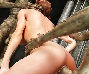 Two aliens fucks slutty elven babe - part 11