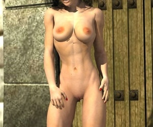 Athletic brunette disrobes to show her toned body - part 7