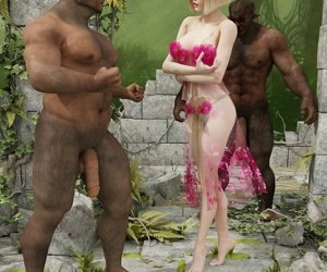 Awesome hot elven blonde and two monsters dicks - part 8