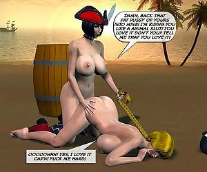 Breasty pirate lesbian sex - part 2