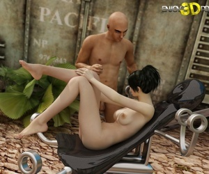 Nude brunette gets fondled outside - part 14