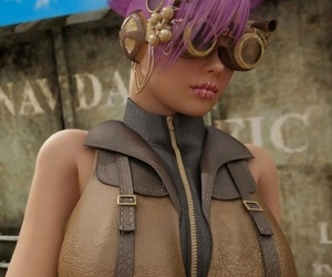Nice steampunk babe gets ready to suck monsters cock - part 15