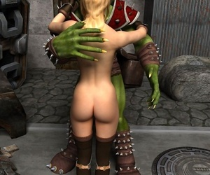 Green goblin with gorgeous blonde warrior girl - part 14