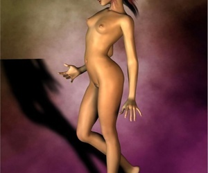 3d toon with tiny pointy tits showing pussy
