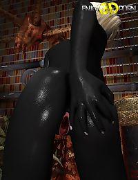 Hot black skin chick masturbates with dildo - part 11