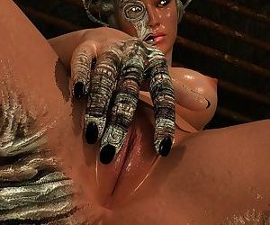 Amazing hot interdimensional girl shows her pussy close up - part 3