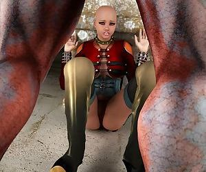 Slave with bald head molesled by alien - part 2