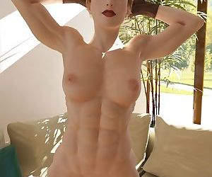 Nude muscle girl shows off her hard work - part 8