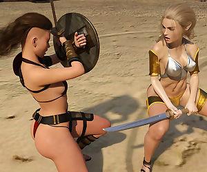 Sarubo3d- Elf vs Barbarian