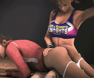 3d animated crossover gif juliet_starling left_4_dead lollipop_chainsaw marm source_filmmaker spanking zoey