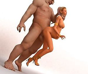 Pretty 3d toon elf getting hard fucked and pussy creampied by big trolls - part 757