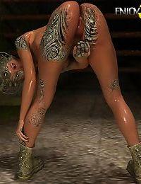 Beautiful interdimensional chick hot masturbation - part 255