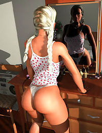 Big booty 3d blonde shaking her super juicy ass - part 311