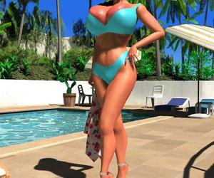 Busty 3d stunner shows her massive globes - part 376