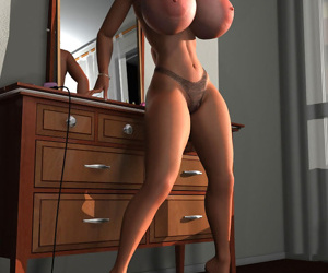 Sexy 3d blondie exposing her big natural tits - part 546