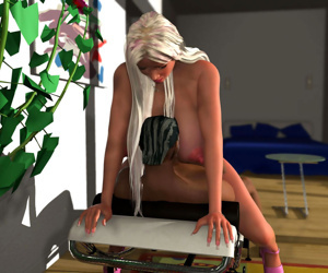 Hot 3d blonde getting her slit stimulated before interracial - part 383