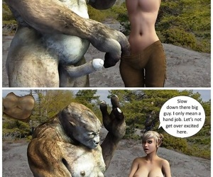Big troll with a huge cock driving 3d anime elf in mad sex action - part 770