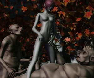 3d elf knight gets double ripped by two ugly monsters with huge cocks - part 769