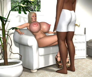 Busty 3d blonde gets fucked by big black monster dick in interracial action - part 418