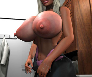 Sexy 3d toon blonde with oversized boobs - part 322
