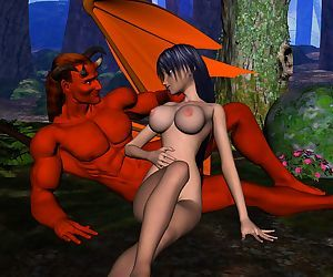 Horny 3d evil monster with big cocks fucking pretty girls in all of their holes - part 722