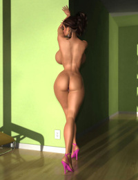 Horny 3d brunette babe shows her huge tits and sexy ass - part 432