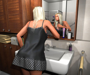 Juicy natural 3d big tits blonde babe in the bathroom - part 411