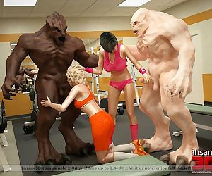 3d sex monsters fucking in the gym - part 567