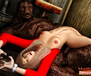 Lovely 3d blonde babe gets fucked by a huge troll - part 785