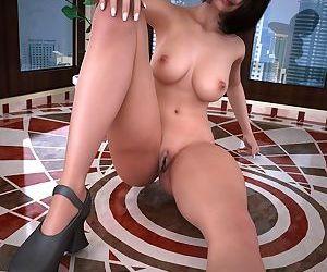 Amazing hot brunette spreads her legs - part 482