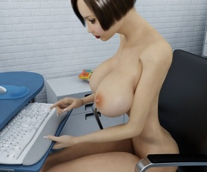 Babe with big tits in the office at enjoy 3d porn - part 519